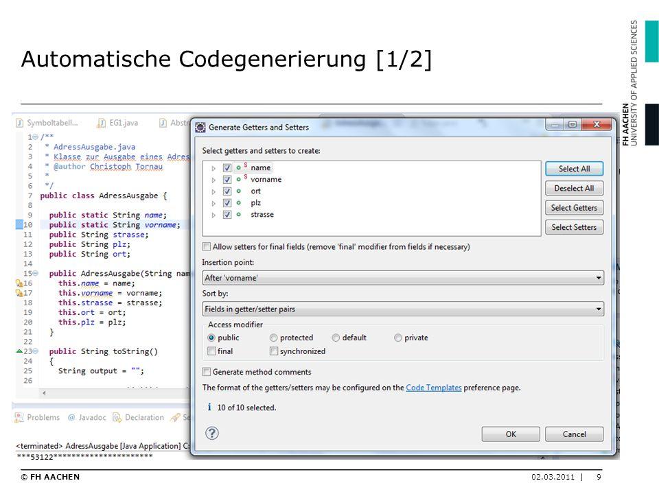 Automatische Codegenerierung [1/2]